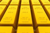 Stacked golden bars — Stock Photo