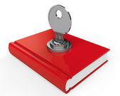 Book with lock — Stock Photo