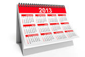 Desktop calendar for 2013 — Stock Photo