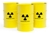 Barrels with radioactive materials — Stock Photo