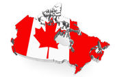 Canada map with flag — Stock Photo