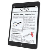 Tablet PC with News — Stock Photo
