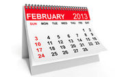 Calendar February 2013 — Stock Photo