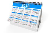 Desktop calendar for 2013 — Stockfoto