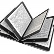 Tablet PC as Book pages — 图库照片