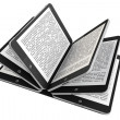 Tablet PC as Book pages — Stock Photo