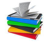 Books with Tablet PC — Stock Photo