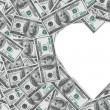 Heart symbol from money — Stock Photo #19552077
