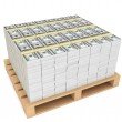 Stack of money with pallete — Stock Photo