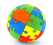 Sphere from puzzles — Stock Photo