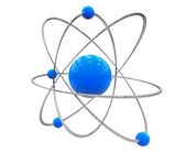 Orbital model of atom — Stock Photo