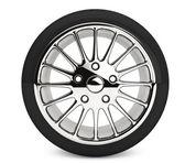 Wheel with steel rim — Stock Photo