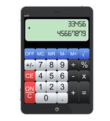 Tablet PC as Calculator — Stock Photo