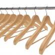 Wooden coat hangers — Stock Photo
