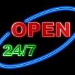 neon open sign — Stock Photo