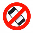 No mobile phone sign — Stock Photo