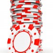 Red Casino Chips — Stock Photo