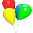 Bright color balloons — Stock Photo
