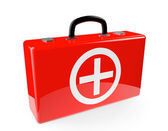 Red First aid case — Stock fotografie
