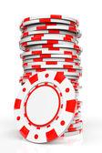 Red Casino Chips — Stock Photo