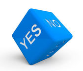 Blue dice with Yes and No sign — Stock Photo