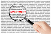 Investment sign — Stock Photo