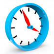 Royalty-Free Stock Photo: Icon of blue abstract clock