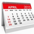 Calendar April 2013 - Foto de Stock  