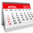 Calendar April 2013 - Stock Photo