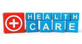 Cubes with Health Care sign — Stock fotografie
