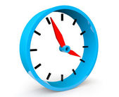 Icon of blue abstract clock — Stock Photo