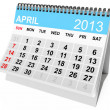 Calendar April 2013 — Stock Photo
