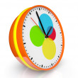 Stock Photo: Abstract color clock
