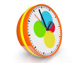 Abstract color clock — Stock Photo