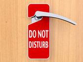 Kapıda asılı işaret rahatsız etmeyin — Stok fotoğraf