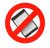 No Tablet PC sign — Stock Photo
