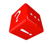 Red Cube with marks — Stock Photo