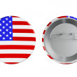 Badges with USA flag — Stock Photo