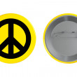 Badge with the Peace sign — Stock Photo