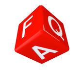 Dobbelstenen faq pictogram kubus — Stockfoto