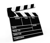 Film produktion clapper board — Stockfoto