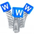 Springs with WWW cubes — Stock Photo