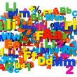 Education concept. Multicolored letters and numbers - Stock Photo