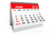 Calendar June 2013 — Stock Photo