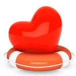 Life Buoy for the heart — Stock Photo #26140297