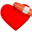 Life Buoy for the heart — Stock Photo