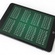 E-learning Concept. Tablet PC with multiplication table — Stock Photo