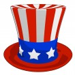 Cartoon American Independence Day Hat — 图库照片