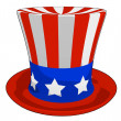 Cartoon American Independence Day Hat — Foto de Stock