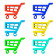 Set of Shopping Cart Icons — Stock Photo